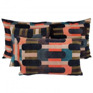 Coussin velours Kutta Brick Harmony Textile