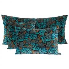 Coussin velours Mharas Bleu de Prusse - Harmony Textile