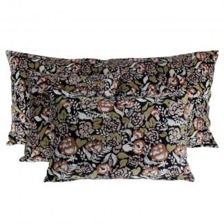 Coussin velours Mharas Fusain Harmony Textile