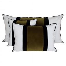 Coussin velours Mumbai Bronze - Harmony Textile