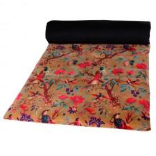 Edredon velours Birdy 85X200 - Harmony Textile