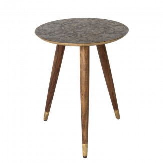 SIDE TABLE BAST BRASS