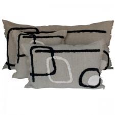 Coussin lin/coton TIKRI 40X60 - Harmony Textile