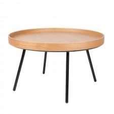 TABLE BASSE OAK TRAY D78 x H45 cm