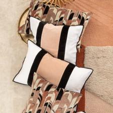 Coussin en velours Mumbai Bronze - Harmony Textile