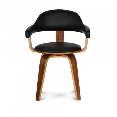 Chaise Suedoise Walnut Noire 57x53 H76cm E Shop Deco Styles Com