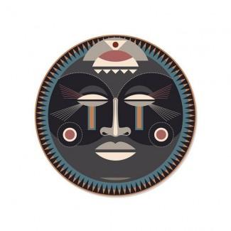 SET DE TABLE ROND MASSAÏ - MASQUE AFRICAIN D38 PDV 00132 Pôdevache