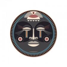 SET DE TABLE ROND MASSAÏ - MASQUE AFRICAIN D38 PDV 00132 - Pôdevache