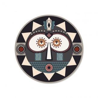 SET DE TABLE ROND KOROWAI - MASQUE YEUX - D38 PDV 00131 Pôdevache