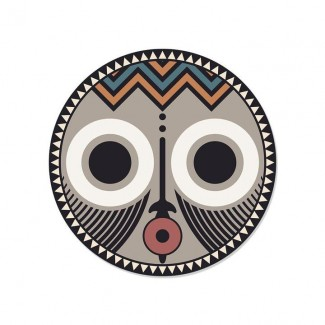 SET DE TABLE ROND ASARO0 - MASQUE AFRICAIN D38 PDV00139 Pôdevache
