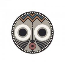 6 SOUS-VERRE ROND KOROWAI - MASQUE AFRICAIN -D13- PDV00131 - Pôdevache