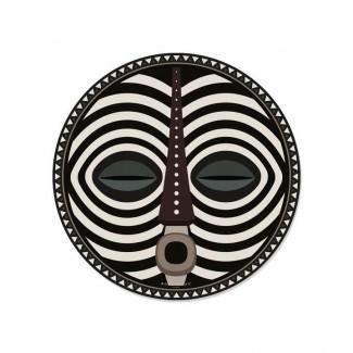 SET DE TABLE ROND DOUROU - MASQUE AFRICAIN D38 PDV 01796 Pôdevache